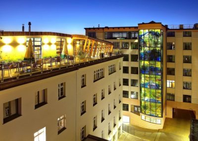Centrum Biurowe Herbewo widok nocny